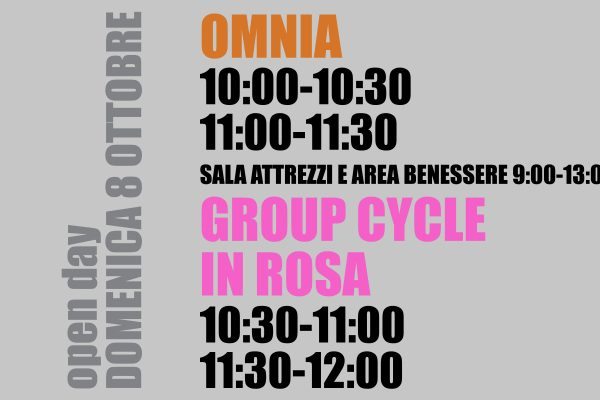 Open day Omnia e Group Cycle
