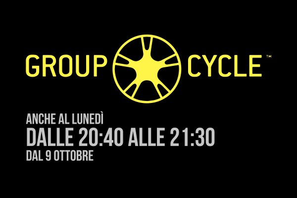 Group Cycle ogni lunedì dalle 20:40 alle 21:30